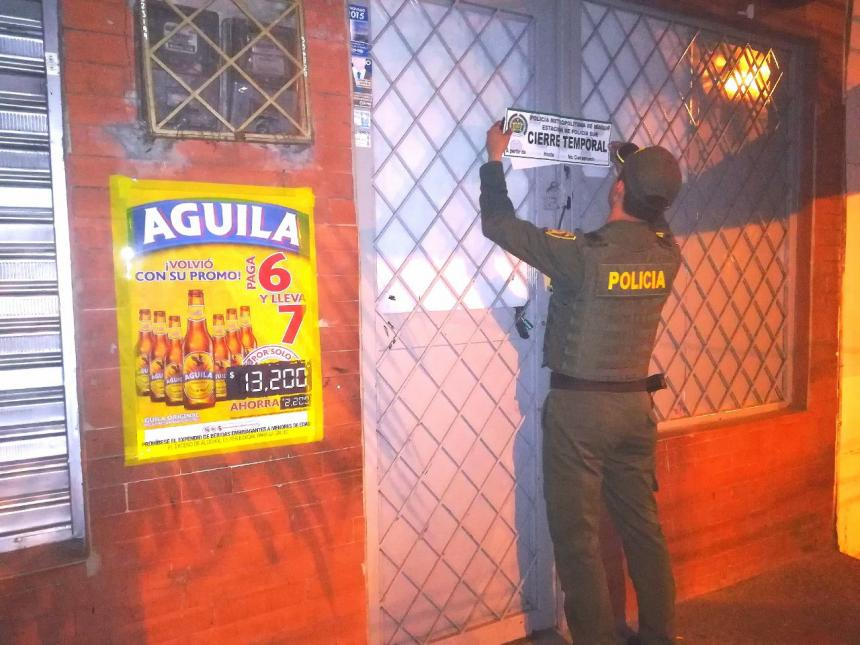 Sellaron tres bares en el Centro de Ibagué