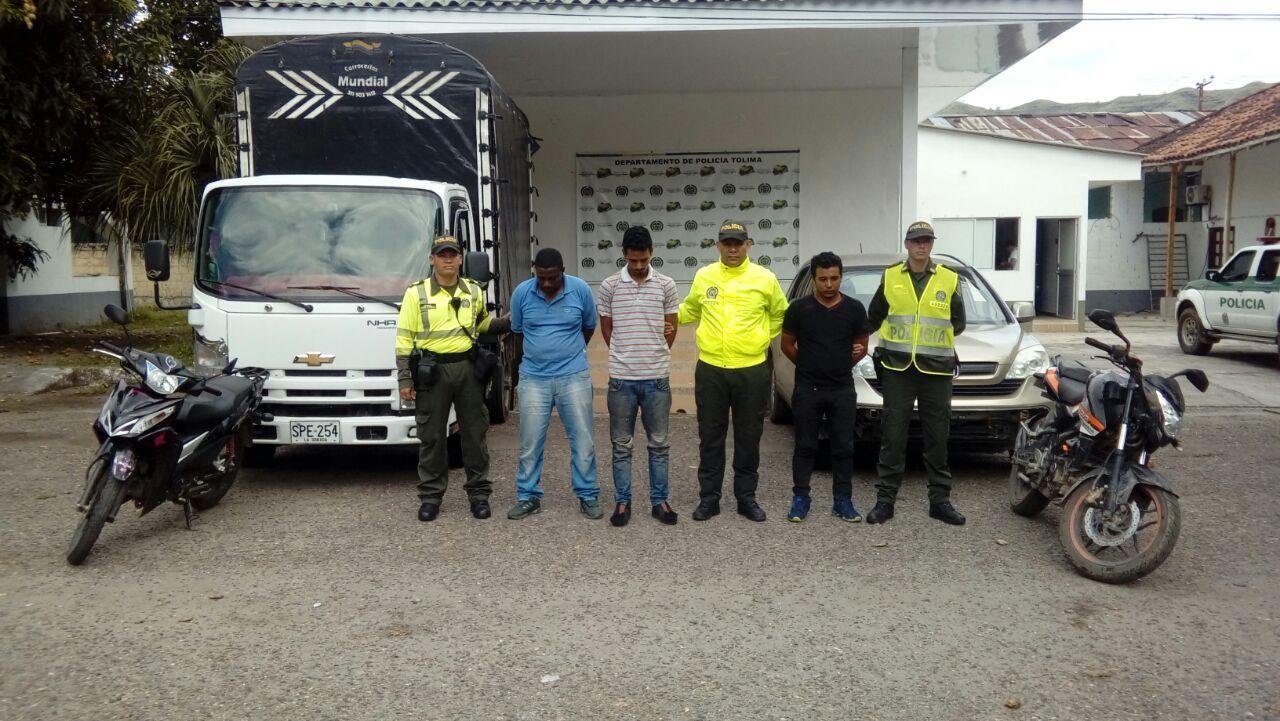 Autoridades frustraron el robo de dos vehículos en Palocabildo