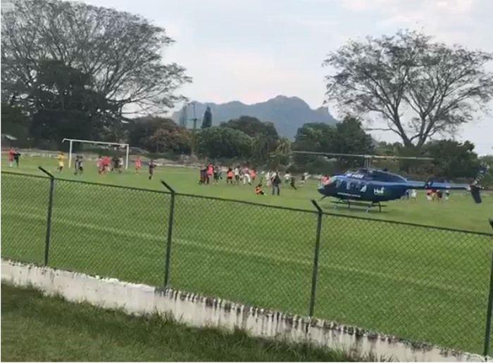 Senador que generó polémica por aterrizar en el estadio de Mariquita, gestionará recursos para este escenario deportivo