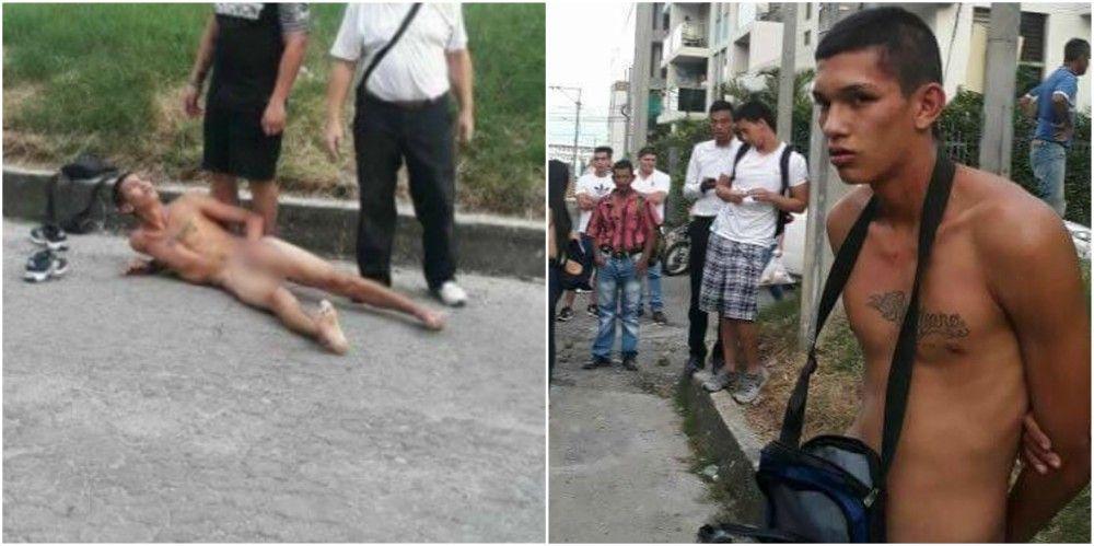 Lo dejaron sin ropa por hurtar un celular en el barrio Piedra Pintada de Ibagué