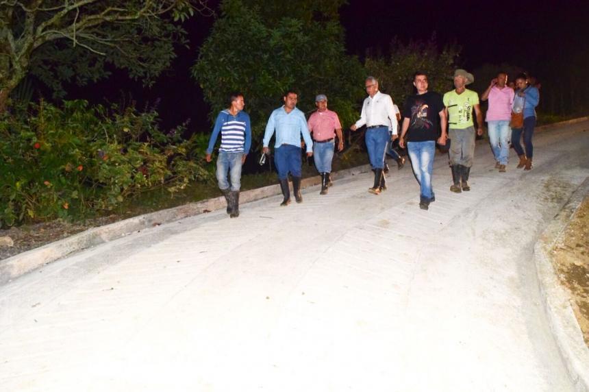 Habilitaron cuatro tramos de placa huella en zona rural de Ibagué