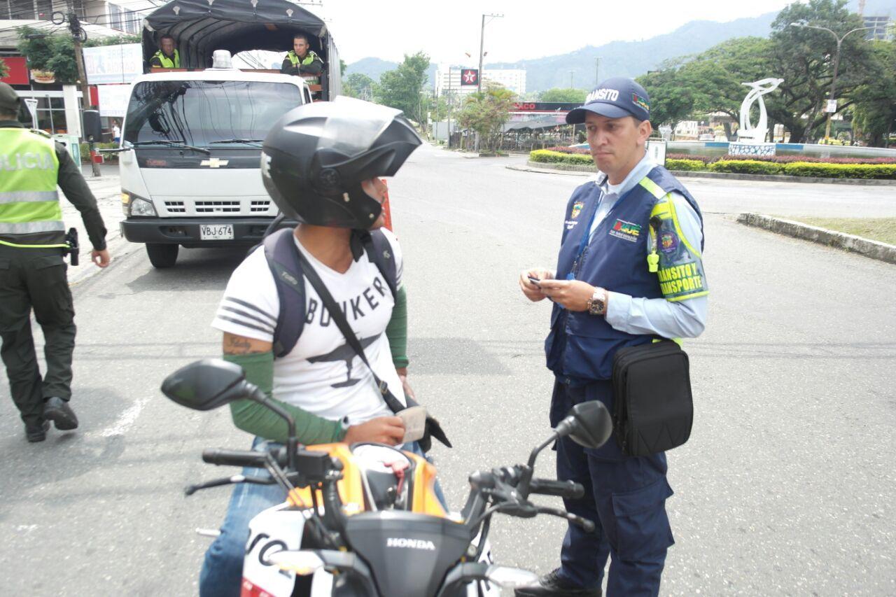 Implementan 'pico y placa' para motocicletas en Ibagué