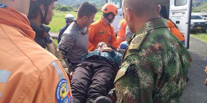 Rescatada montañista que rodó y sufrió heridas en el Nevado del Tolima