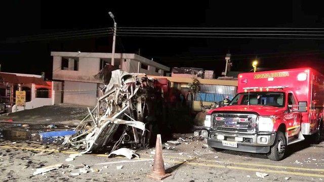 Condenaron a seis de la banda que envió el narcobus' accidentado en Ecuador
