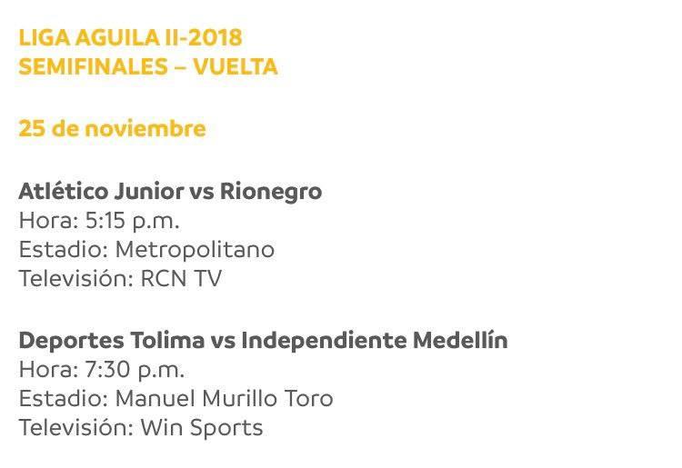 Fechas y horarios para las semifinales: Abre 'El Campeón' de visita este miércoles en Medellín