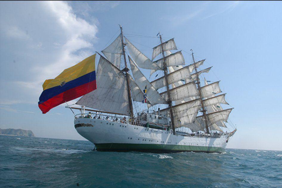 El Buque Gloria regresa a Barranquilla