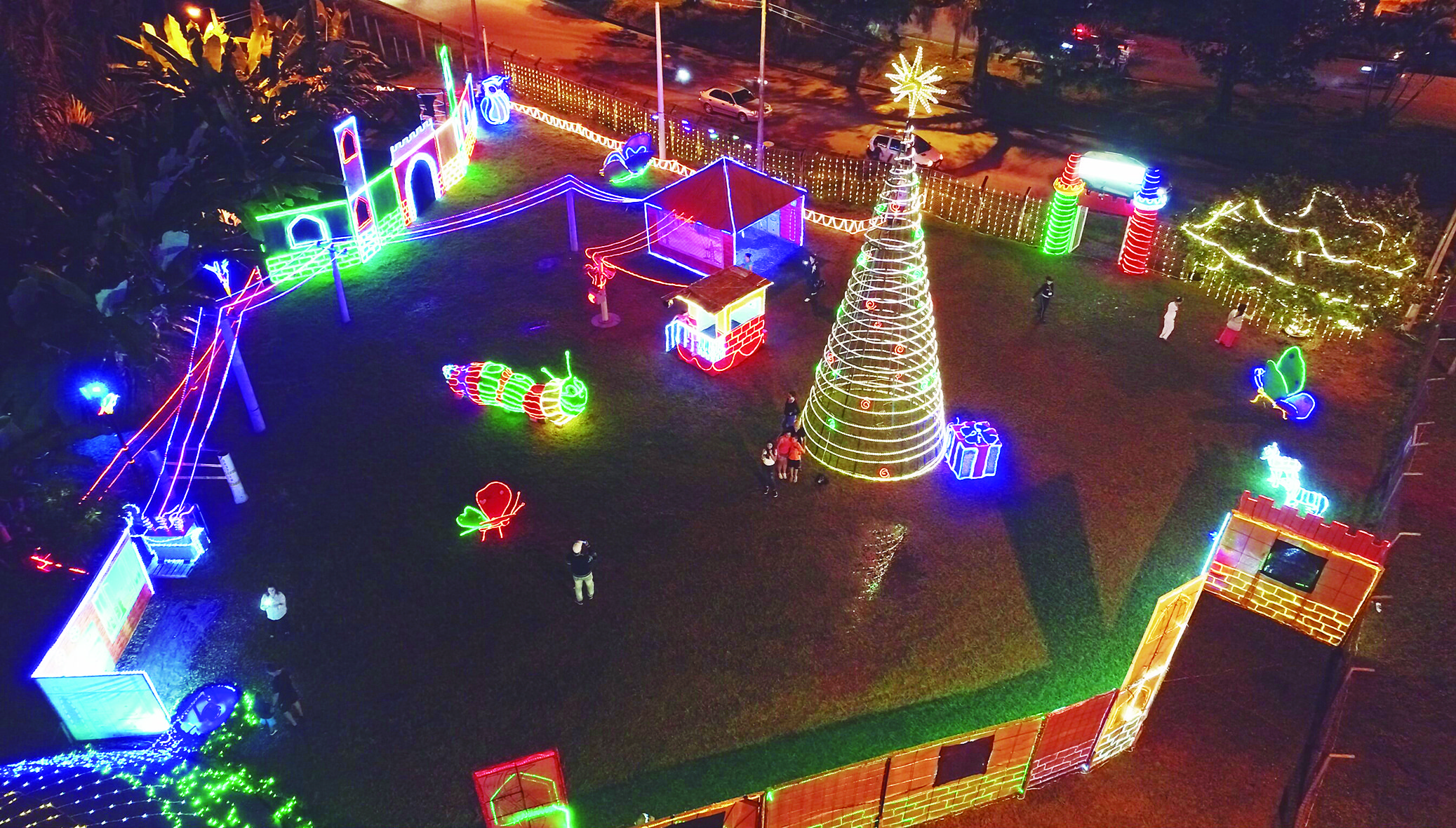 Enertolima encendió parques y su 'Ruta de la energía' en esta Navidad