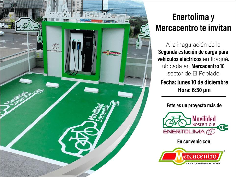 Enertolima y Mercacentro inaugurarán la segunda estación de carga para vehículos eléctricos