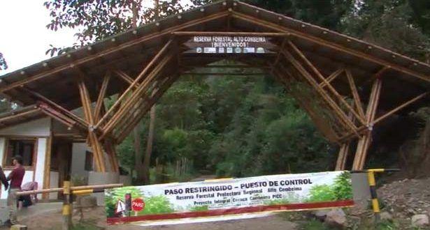 Todo listo para el control de ingreso de personas a la reserva 'Alto Combeima'