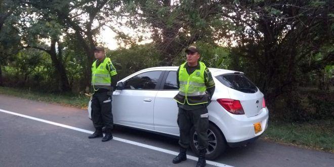 Carro robado en Bogotá fue recuperado en vía del sur del Tolima
