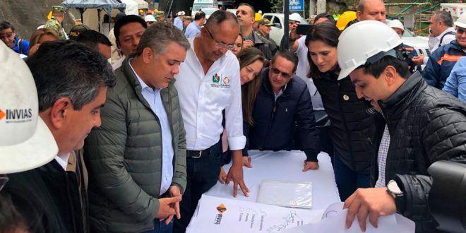 Presidente Duque aseguró este miércoles que terminará las obras del Túnel de La Línea