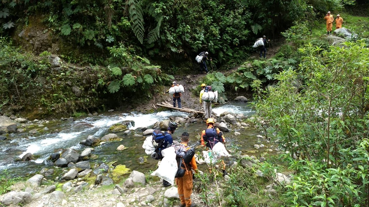 Recogieron tonelada y media de basura en el ascenso al Nevado del Tolima