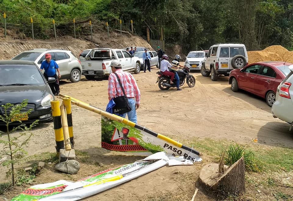 Energúmenos destruyeron con hacha parte del puesto de control de acceso al Nevado del Tolima