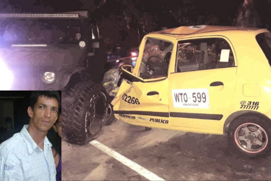 Falleció el taxista que chocó contra un Jeep en al vía a El Totumo