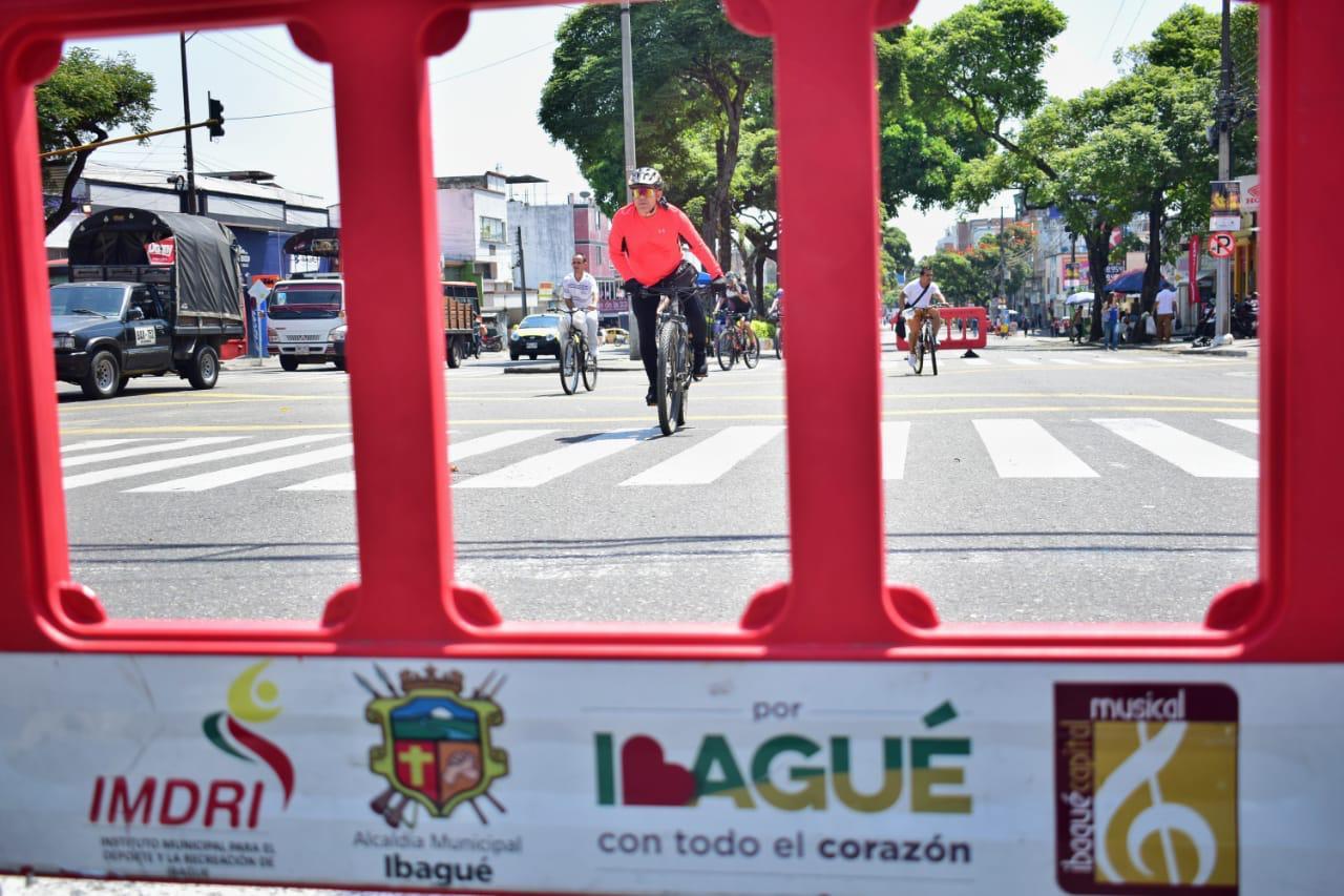 Cerca de 20 mil ibaguereños disfrutaron de la ciclovía durante el Día sin carro y sin moto