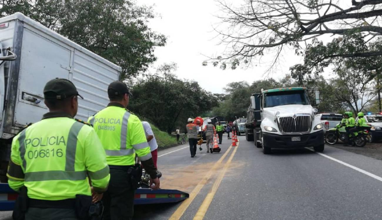 Siniestro vial en la carretera hacia el norte del Tolima
