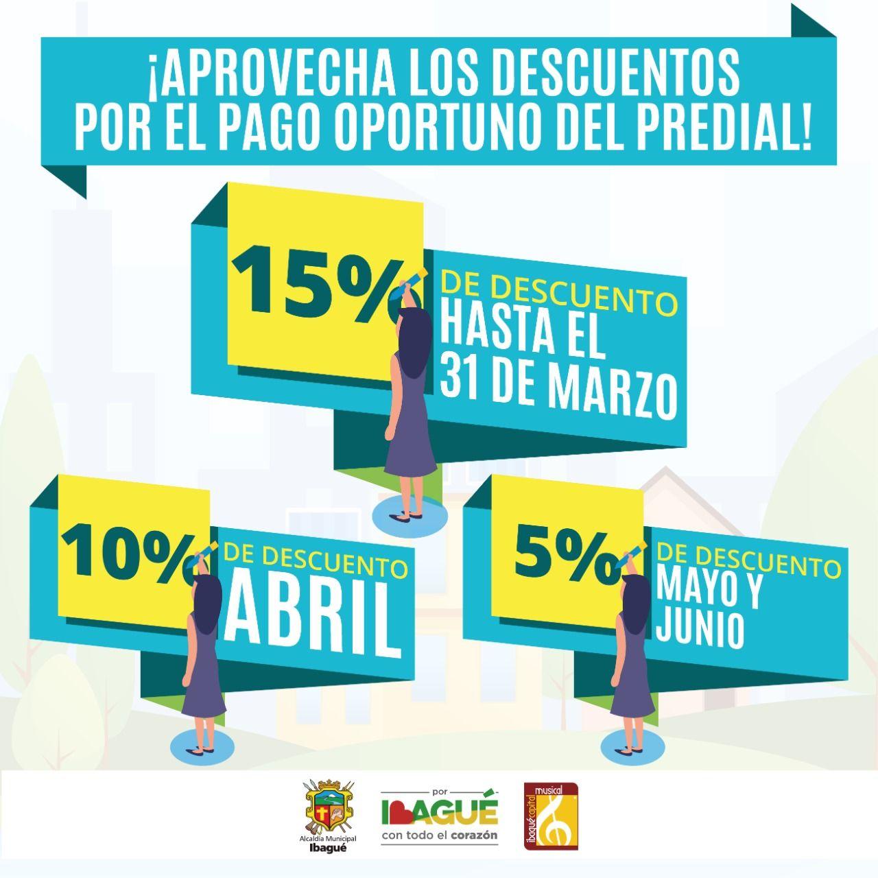 Pague el Predial hasta el 31 de marzo y obtenga el 15 % de descuento