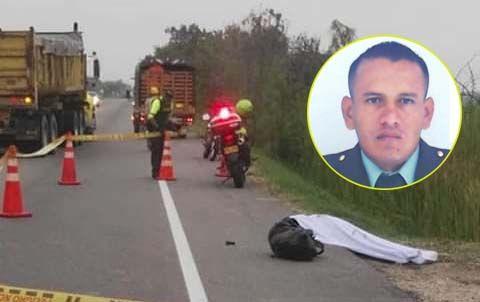 De balazos mataron a patrullero en moto en la vía entre Espinal y Guamo