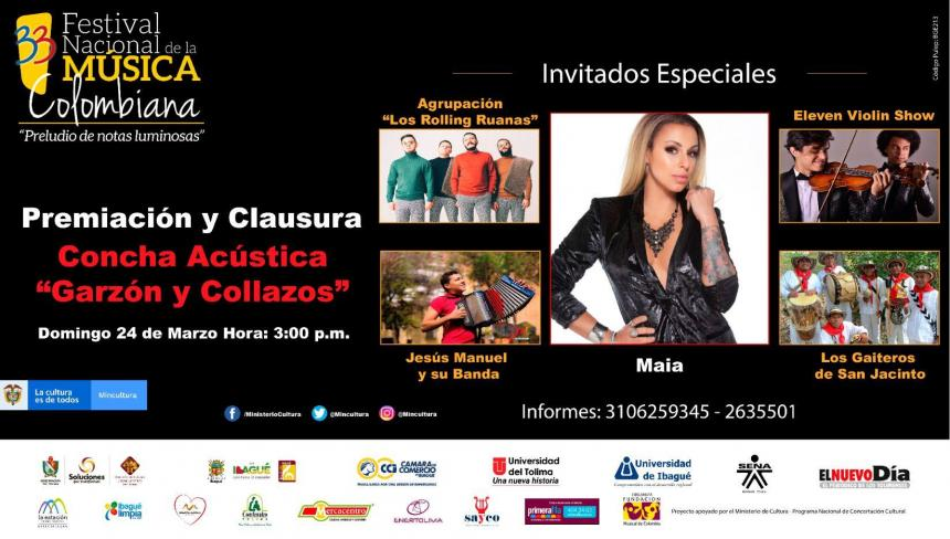 Ibagué escuchará a Maía y Rolling Ruanas como invitados del Festival de Música Colombiana