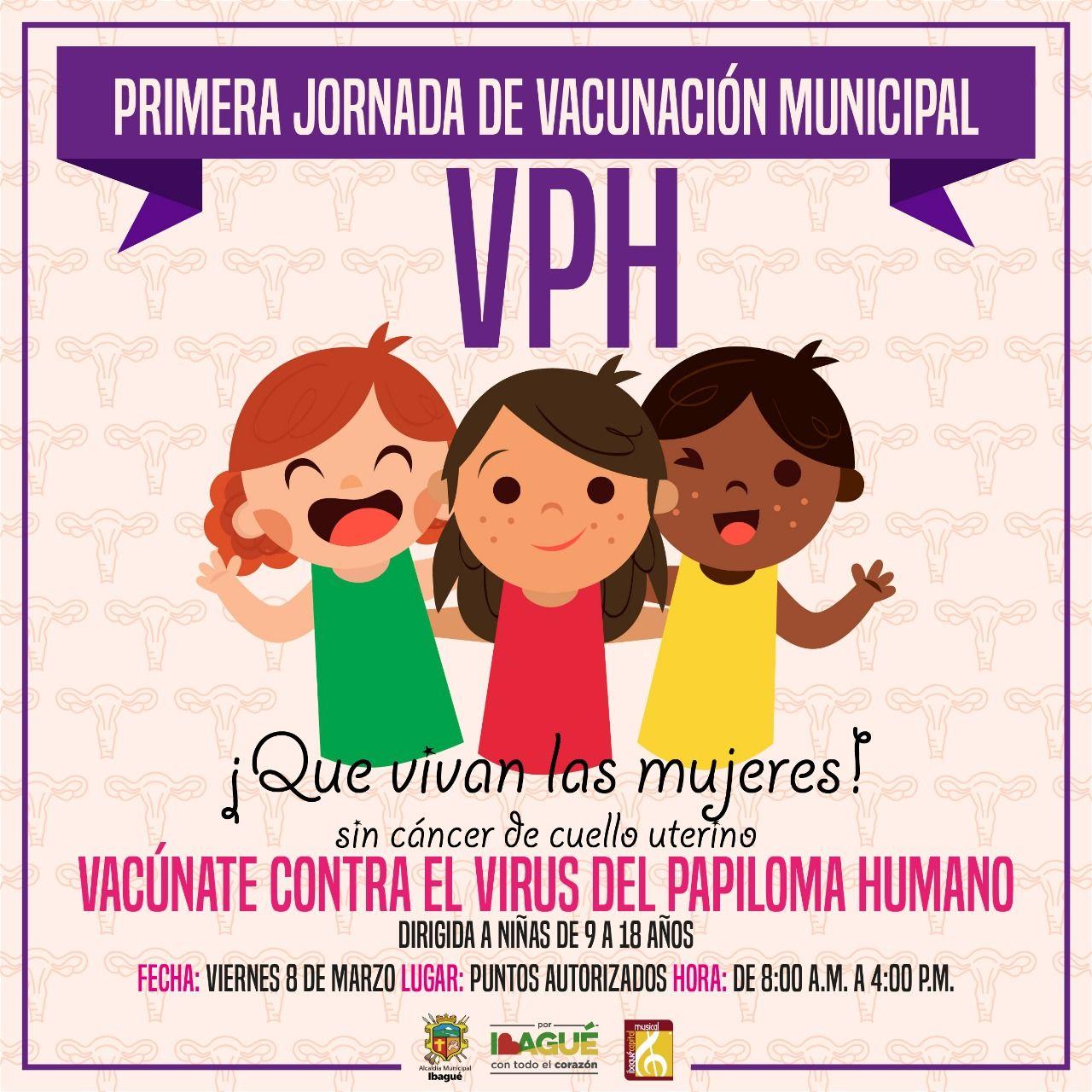Vacúnese este viernes contra el Virus del Papiloma Humano