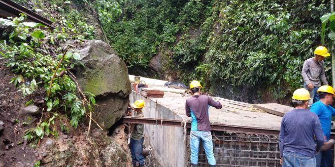 """Colector de """"La Guadaleja"""" continúa su construcción sin novedad por aguaceros"""