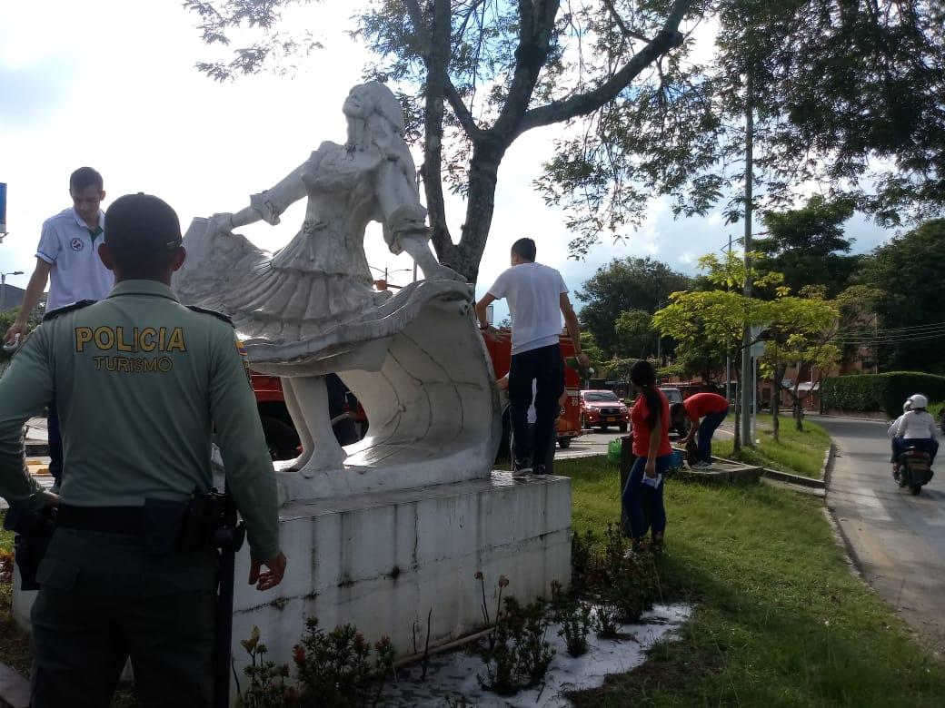 Policía de turismo recuperó monumento La Bambuquera