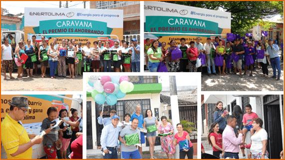 Cerca de 15 barrios de Ibagué hicieron parte de la caravana 'El premio es ahorrando' de Enertolima