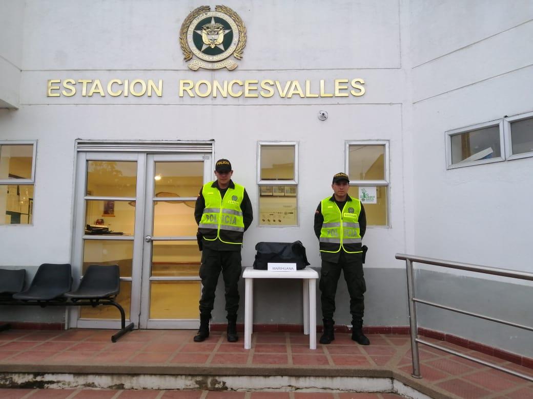 Decomisaron cargamento de marihuana en la vía a Roncesvalles