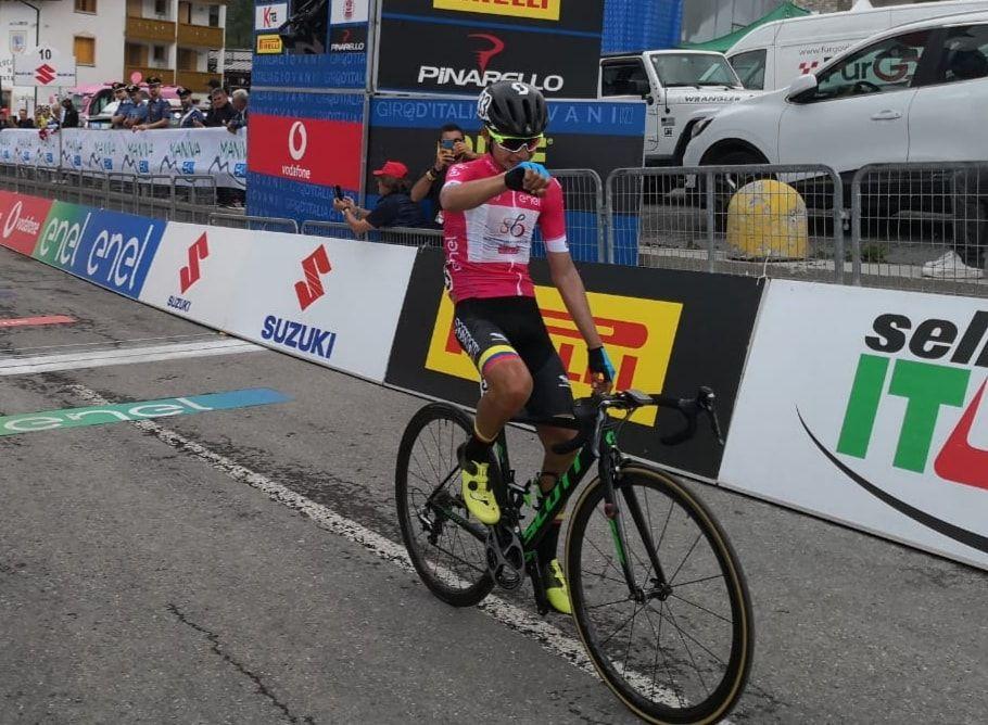 Tolimense repitió triunfo de etapa en el Giro de Italia Sub 23 y se afianzó en el liderato