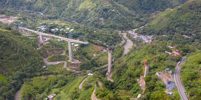 En 80% avanza construcción del puente en el corregimiento Coello – Cocora, de la doble calzada Ibagué - Cajamarca