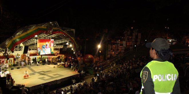 Tres mil policías brindarán seguridad durante el 47° Festival Folclórico Colombiano