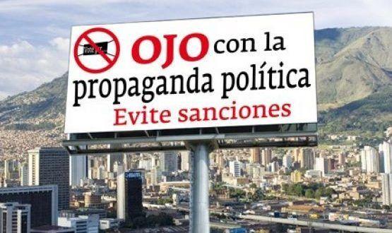 Partidos y candidatos solo podrán instalar publicidad política desde el 27 de julio