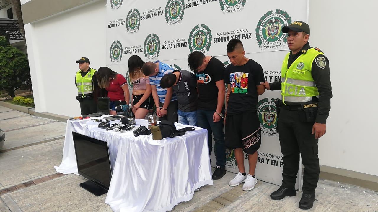 Cayó en Ibagué la banda 'Los Turistas', dedicada al robo de residencias