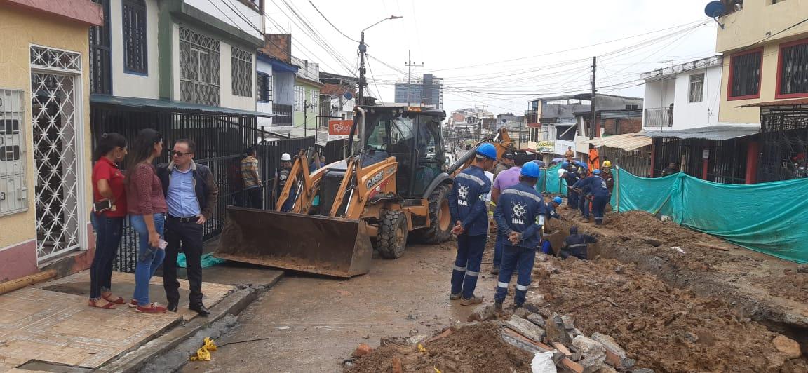Alcaldía investigará las causas del accidente en obras del Ibal