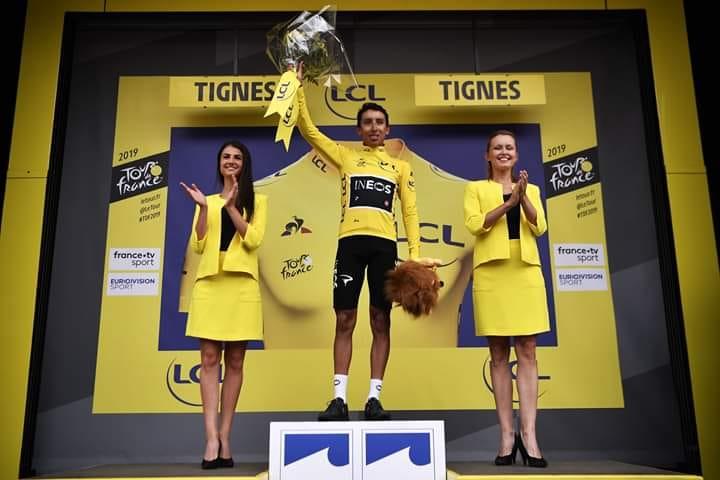 Egan Bernal, nuevo líder y muy cerca de la gloria en el Tour de Francia