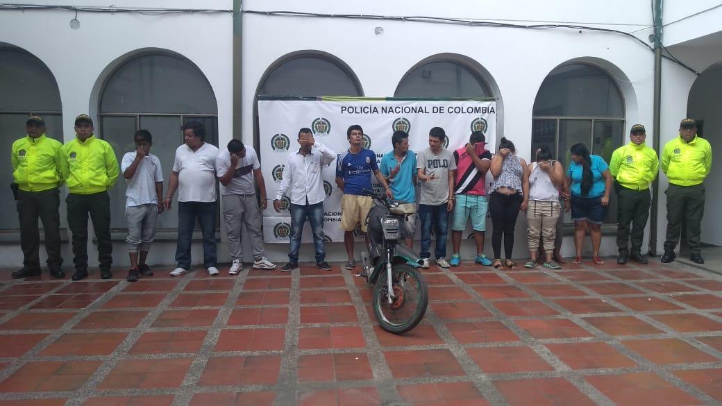 Asegurados 'Los Domiciliarios' por presunto tráfico de estupefacientes en Guamo