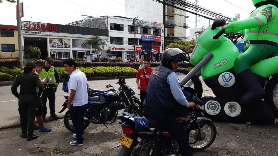 Policía realizó actividades de prevención para mitigar el hurto de motos.
