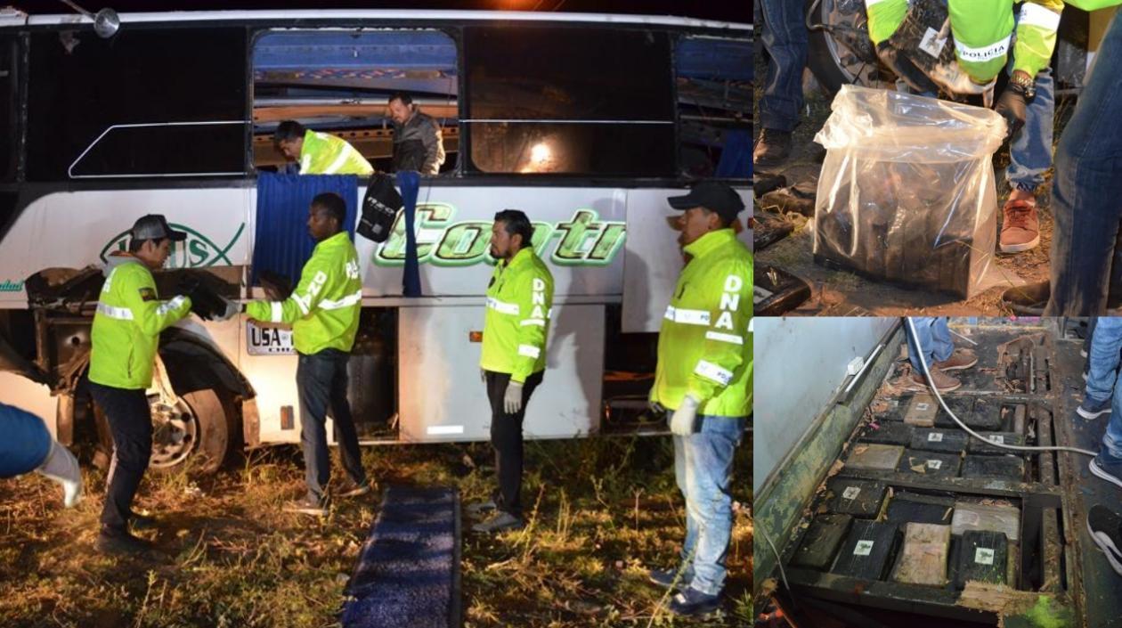 Nueva banda de 'narco buses' fue desmantelada por la Fiscalía y la Policía