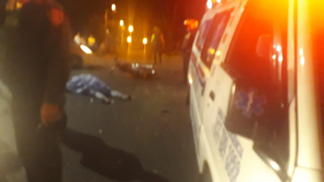 Falleció motociclista en choque contra camioneta diagonal al Sena