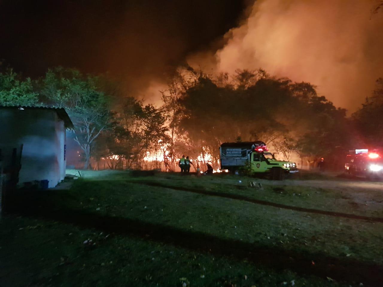Organismos de socorro atendieron incendio forestal en inmediaciones del Capa