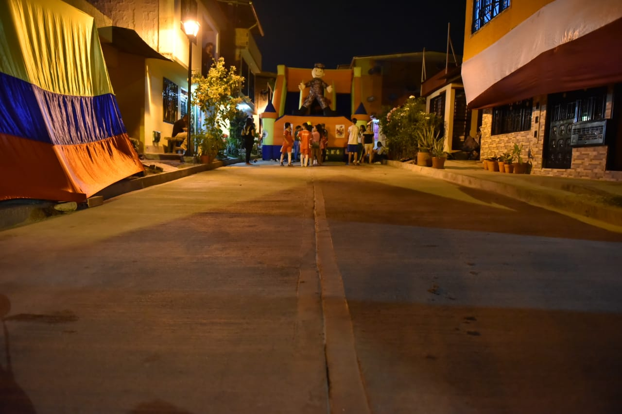 En Tierra Grata se pavimentaron 515 metros cuadrados de vía
