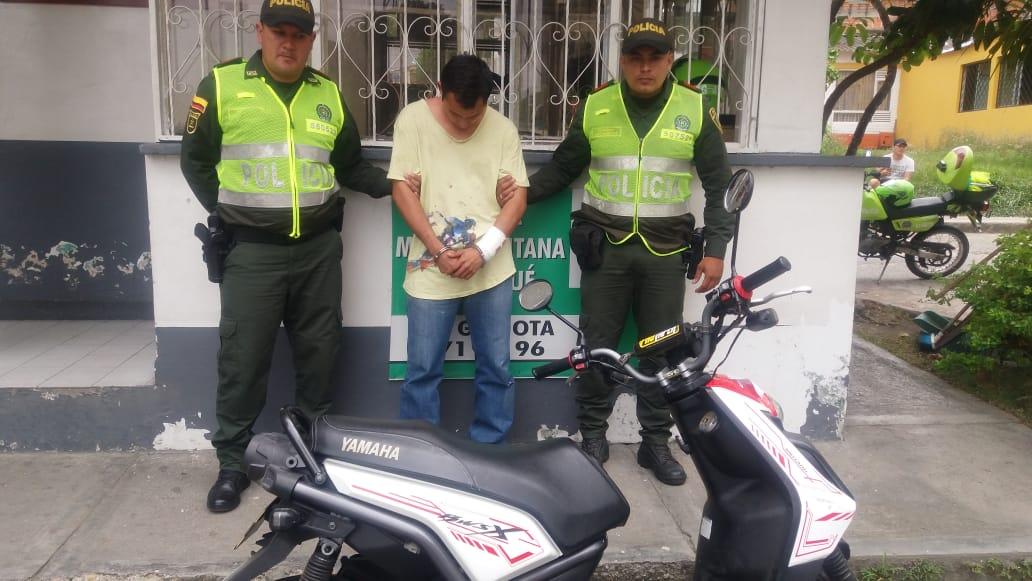 Policía recuperó en el barrio San Antonio moto robada en el Restrepo