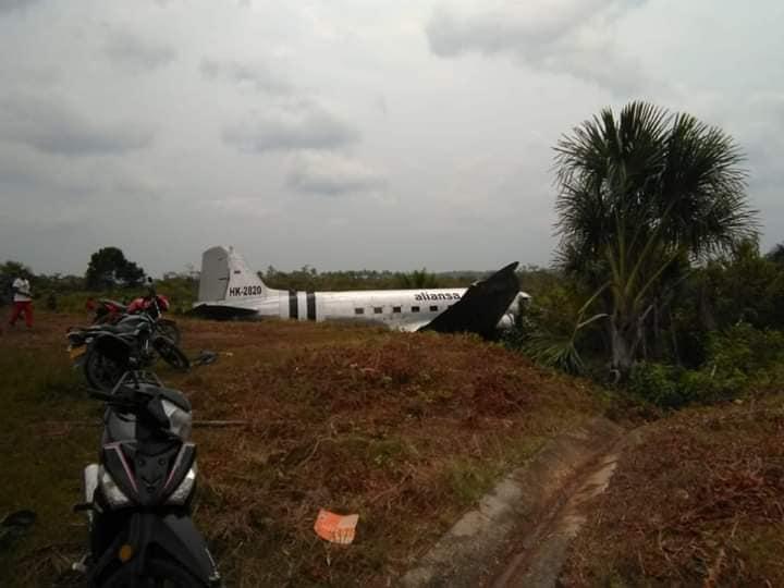 Pasajeros ilesos luego de percance de avión en el Amazonas