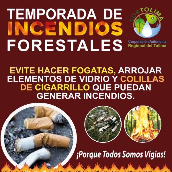 Alerta roja en el Tolima, uno de los departamentos en máxima alerta por incendios forestales