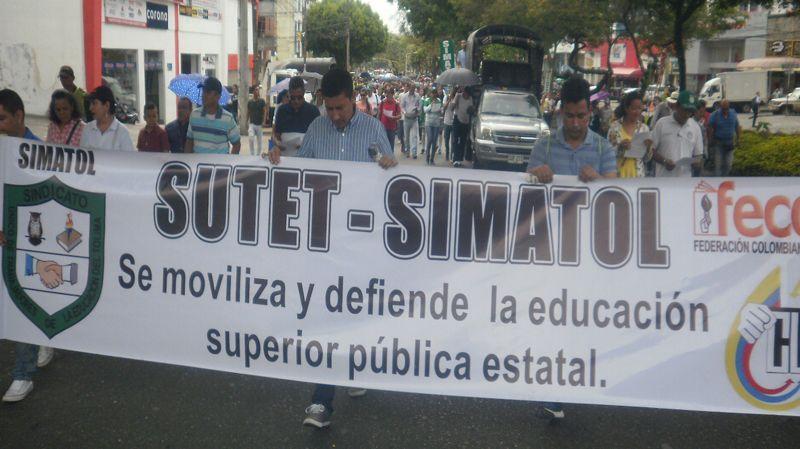 Sindicatos de maestros del Tolima explican la razones del paro nacional