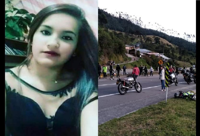 Mujer falleció arrollada por otros motociclistas en una caravana a alta velocidad