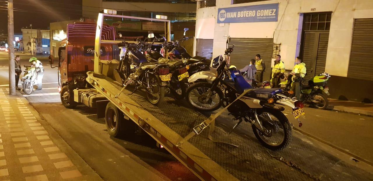 Más de 200 motos han sido inmovilizadas por participar en 'piques ilegales'