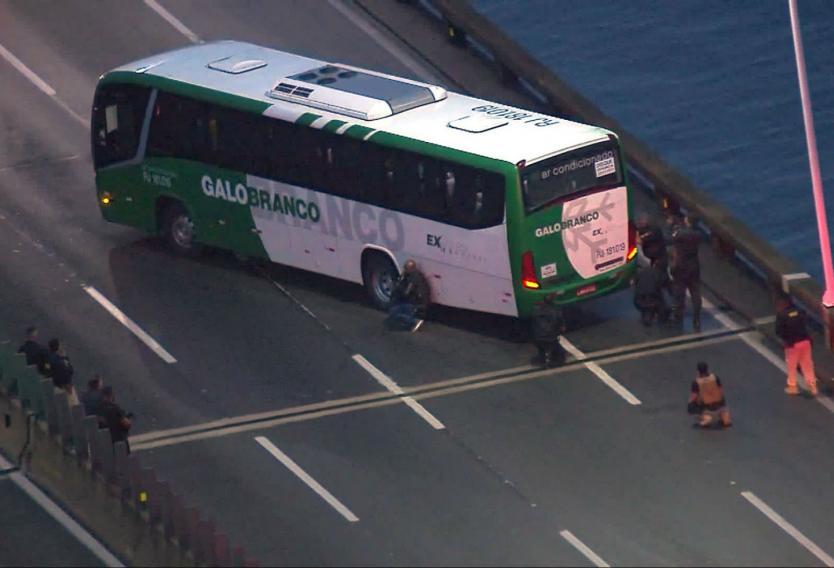 Policía disparó y mató al secuestrador de bus en Río de Janeiro