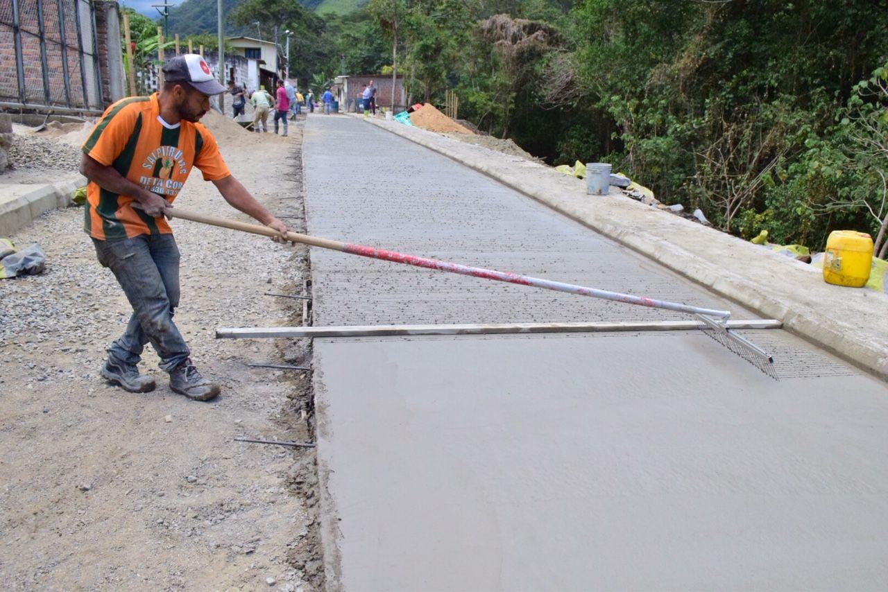 Obras del par vial de Villarrestrepo registran un avance del 60 %