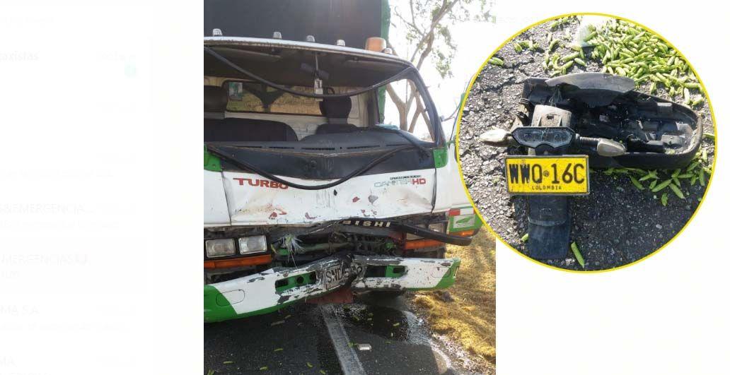 Motociclista falleció tras impactar contra camión en la vía Alvarado - Ibagué